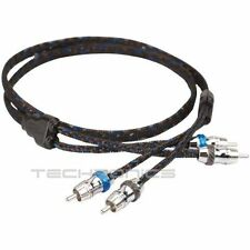 SCOSCHE HEXAD6 6 FT 2 CHANNEL TWISTED RCA INTER CONNECT CAR AUDIO AMP CABLE WIRE