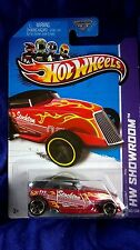 Hot Wheels Phaeton HW Showroom 2013 Red With Flames Guitar Logo Free Shipping