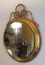 50er anni specchio specchio a parete ottone cordino Modernist brass mirror Regency