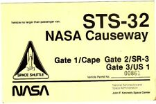 STS-32 NASA Causeway Gate 1 Kennedy Space Shuttle Permit Pass
