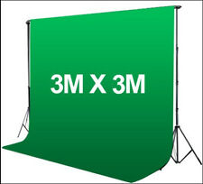 Photography 3*3m Muslin Cotton Chromakey Backdrop Studio Fabric Background GREEN