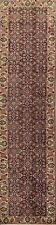 Vintage Excellent Geometric Ardebil Runner Rug Hand-Knotted Oriental Carpet 3x12
