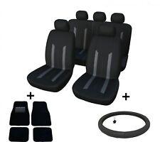 Autozubehör Set Universal Auto Sitzbezüge Fußmatten Lenkradbezug Leder 37-39 cm