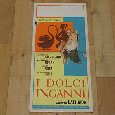I DOLCI INGANNI locandina poster Catherine Spaak Marquand Lattuada AA16