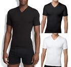 New Spanx Men's Shapewear,Cotton Compression Vneck 610 Shirt Tee Black White