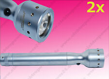 2X Led Lenser -V2 LUNA LENTI TORCIA ELETTRICA LUCE LED / Lampada 7549 con