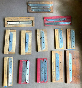 ROSBACK TRIMMER KNIVES PRINT SHOP CLOSED LOT OF 18 USED KNIVES - NO RESERVE!