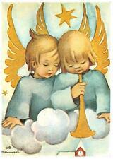 """vintage blank unused greeting cards Ars Sacra Hummel""""angels with trumpete""""985"""""""