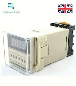 DH48S-S 12V/24V/220/240V Time Delay Relay Timer with Socket Base Repeat Cycle