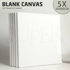 5x Artist Blank 50X60 Stretched Canvas Canvases Art White Range Oil Acrylic