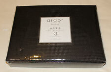 Ardor Home Boudoir Black Waffle Check Queen Bed Quilt Cover Set New