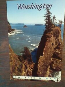 BEAUTIFUL PHOTO POST CARD PACIFIC OCEAN WASHINGTON LOOKING VINTAGE!!