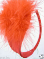 Womens Solid Red Feather Puff C-string Thong Panty Underwear Invisible Underwear