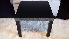 Black Wooden Side Table/Coffee Table diamante
