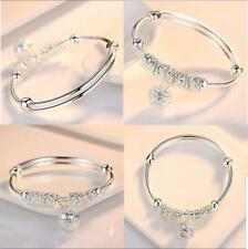 Valentine Authentic Pandora Bracelet Bangle Silver with Heart European Charm New