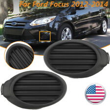 Front Fog Light Hole Cover Vent Grilles Right+Left Side For Ford Focus 2012-2014