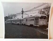 1960s Van Aken Express interurban trolley, Garden City, Michigan original photo