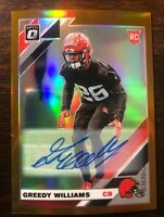 2019 Donruss Optic Greedy Williams Bronze Holo Prizm Auto Rookie Card #122