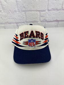 Vintage 1990s NFL Chicago Bears Logo Athletic Diamond Cut Snapback Hat 90s