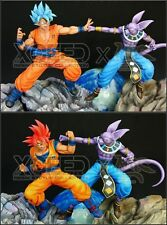 MRC&XCEED-DBZ- Dragon Ball-Resin-statue-figure-RED&BLUE Goku VS Beerus-NEW