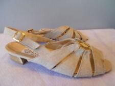 Nos Deadstock Vintage 1960s 70s Sandals Shoes Atomic Vegan Disco Mod Retro 39
