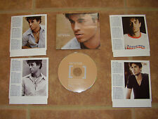 ENRIQUE IGLESIAS Not in love 4 BONUS CALENDAR CARDS EUROPE Made PROMO CD Single