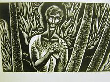 LYND WARD 1931 CHIENGMAI WOMAN Art Deco Print Matted