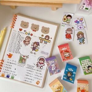 50 Pcs Cute Cartoon Memo Sticker School Decoration Craft Label Notes Marker