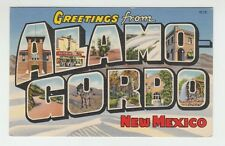 [65365] Old Large Letter Postcard Greetings From Alamogordo, New Mexico