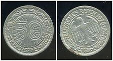 ALLEMAGNE 50 reichspfennig  1928 G   ( bis )