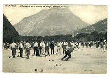 CPA 38 Isère Grenoble L'Esplanade et le Casque de Néron Joueurs de Boules animé