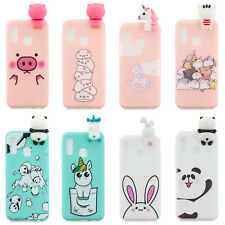 For Huawei P20 Lite Y7 Y9 2019 Cute 3D Cartoon Animals TPU Silicone Case Cover