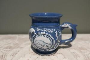 Vintage Figural Mug - Northern Territory - Crocodile Dolphins Seahorse - Vgc