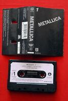 METALLICA S/T #1 1992 RARE BLACK EXYUGO CASSETTE TAPE RTB