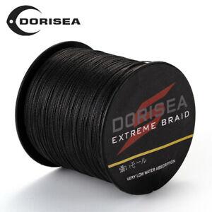 Dorisea Black Braided Fishing Line Power PE 100m 300m 500m 1000m 2000m 6~300LB