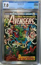 AVENGERS #118 CGC 7.0 John Romita Sr cover DEFENDERS crossover! 1973 *NO RESERVE