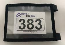Dog Show Exhibitor Ring Number Holder Armband / Arm Band Black ADJUSTABLE