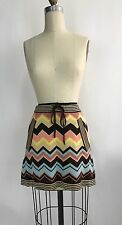 MISSONI FOR TARGET Retro Geometric Yellow Blue Pink Pocketed Mini Skirt Sz XS