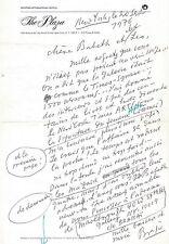 BRASSAÏ Lettre autographe signée sur le succès de son exposition américaine 1976