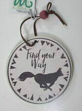 Qqh Fox Find your Way Round woodland Adventure Ornament ganz