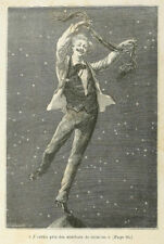 Jules Verne Around the Moon 1870 illustration by EA Bayard  7x5 Inch - Reprint 3