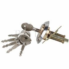 Soild Brass Keyed Rim Cylinder Lock Cross Shaped Overhead Garage Door Hardware