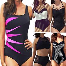Übergröße Damen Push-up Bikini Set BH Bademode Badeanzug Monokini Tankini Strand