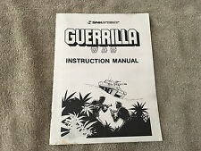 SNK Guerrilla War Instruction Manual