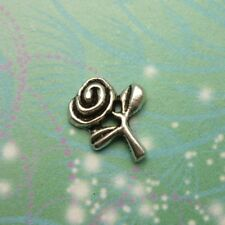 New Pretty Silver Rose Charm for Floating Memory Living Locket Necklaces