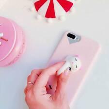 Pink Squishy 3D Cute Cartoon Lazy Cat Kitten Soft Phone Case Cover iPhone 6/6S