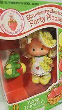 Vintage Strawberry Shortcake APPLE DUMPLIN' Party Pleaser MIB Doll w/ Tea Turtle