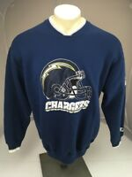 VTG 90s SD/LA CHARGERS blue Sweatshirt Large STARTER CLASSIC NFL Ringer RARE