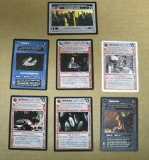 Star Wars CCG set of 7 cards, Misc Rares, Mint