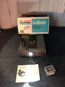 Hanimex 35mm Colour Slide Projector La Ronde 2000RF Vintage
